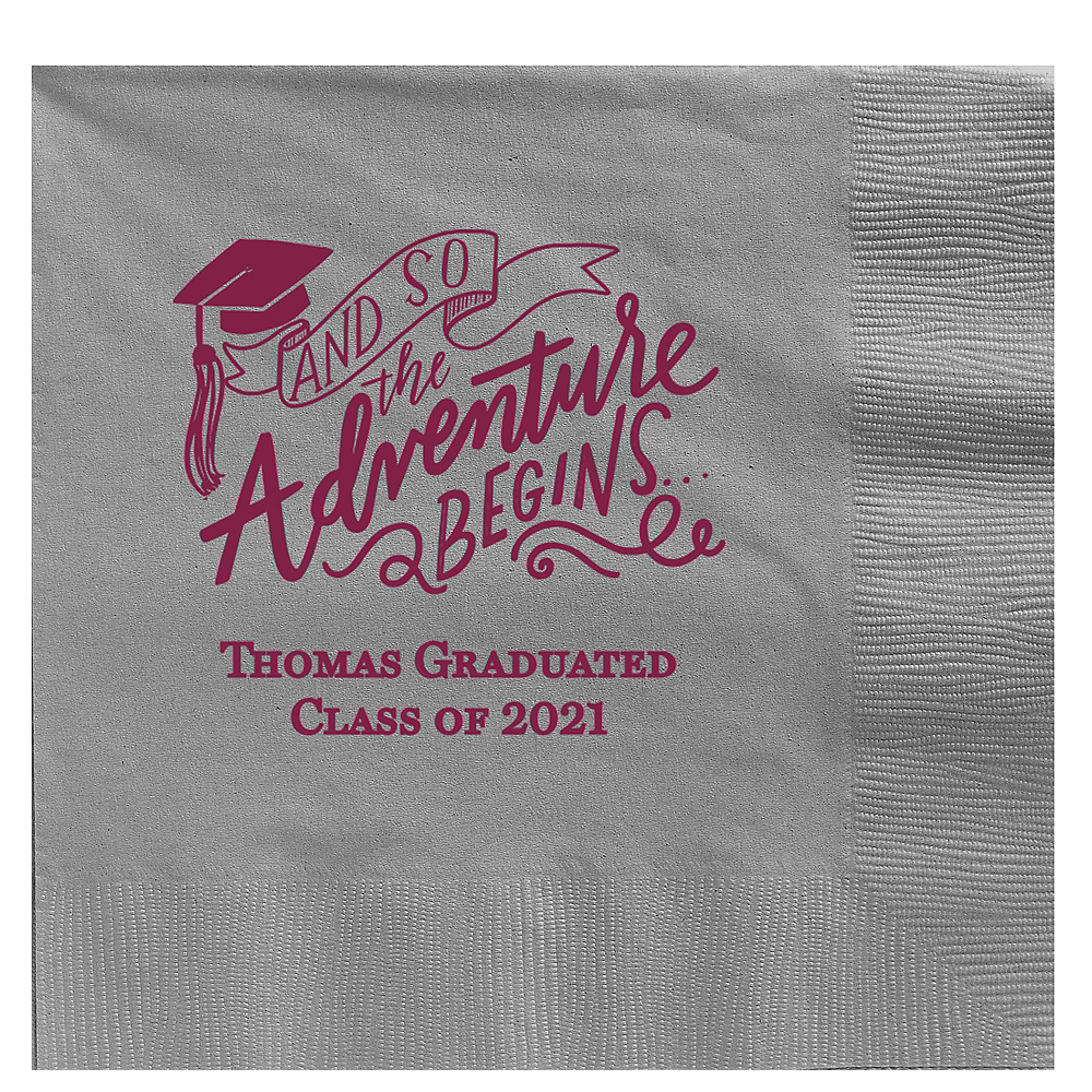 Personalized Graduation Dinner Napkins    Image #1