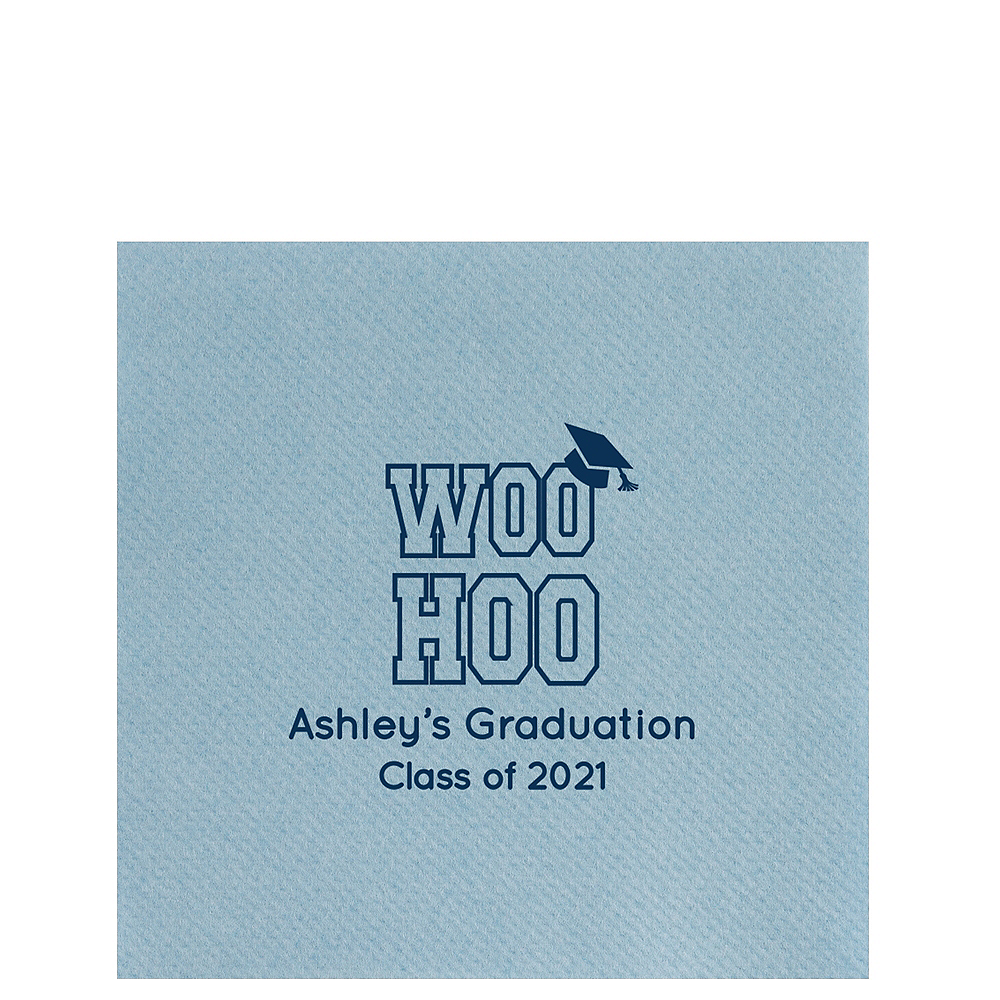 Personalized Graduation Linun Lunch Napkins  Image #1