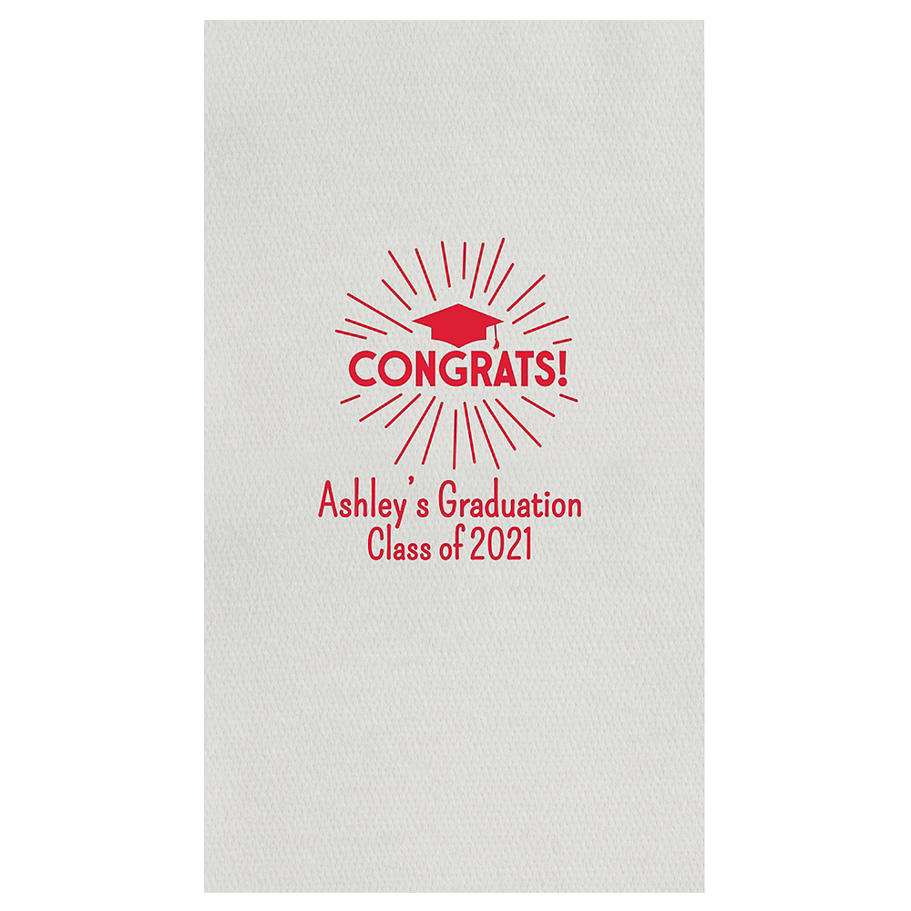 Personalized Graduation Linun Guest Towels    Image #1