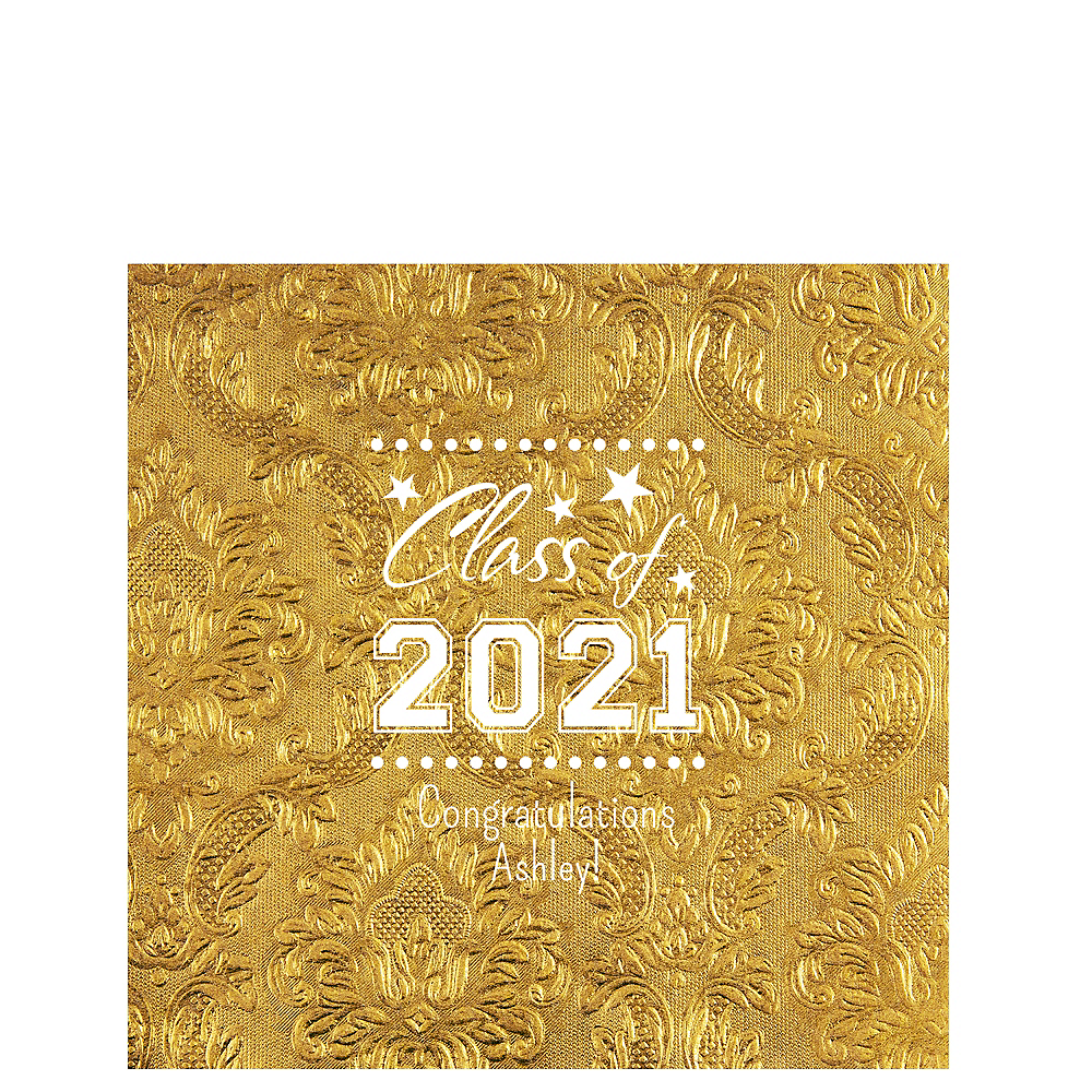 Personalized Graduation Embossed Damask Lunch Napkins    Image #1