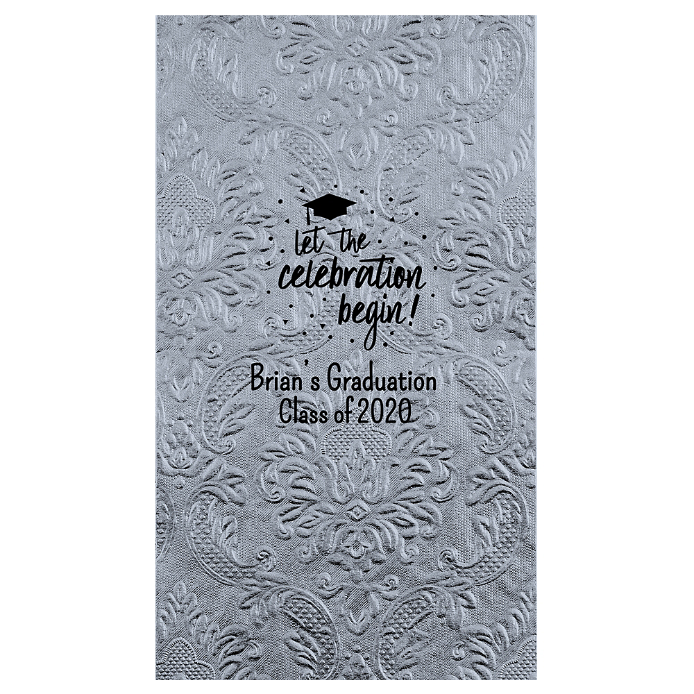 Personalized Graduation Embossed Damask Guest Towels  Image #1