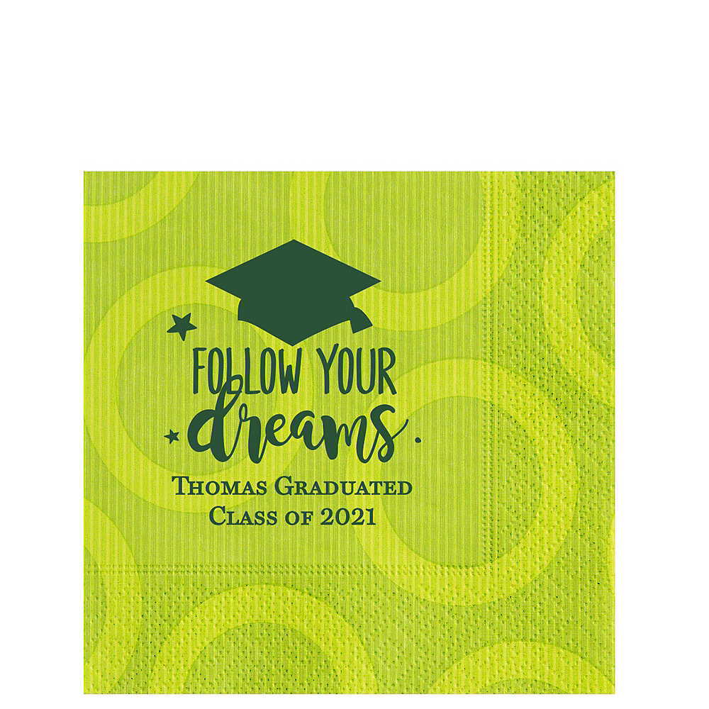 Personalized Graduation Circles Lunch Napkins Image #1