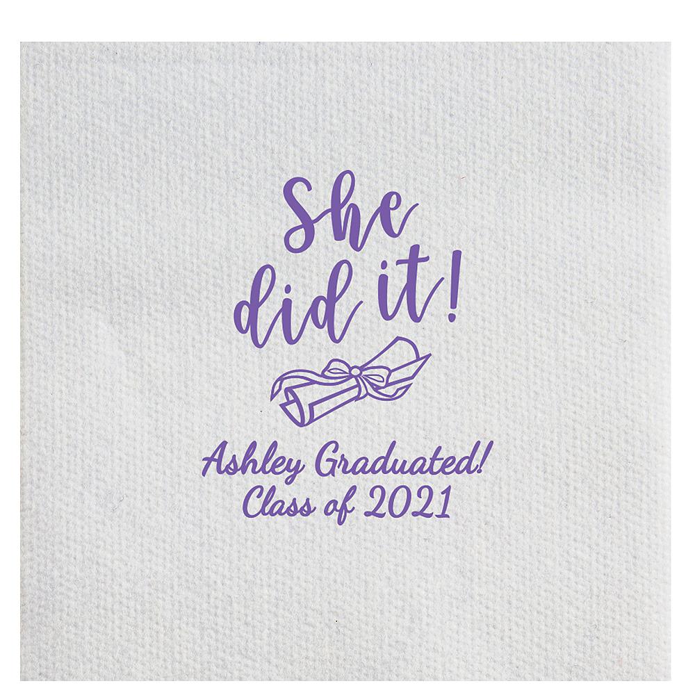 Personalized Graduation Luxury Deville Side-Fold Dinner Napkins Image #1