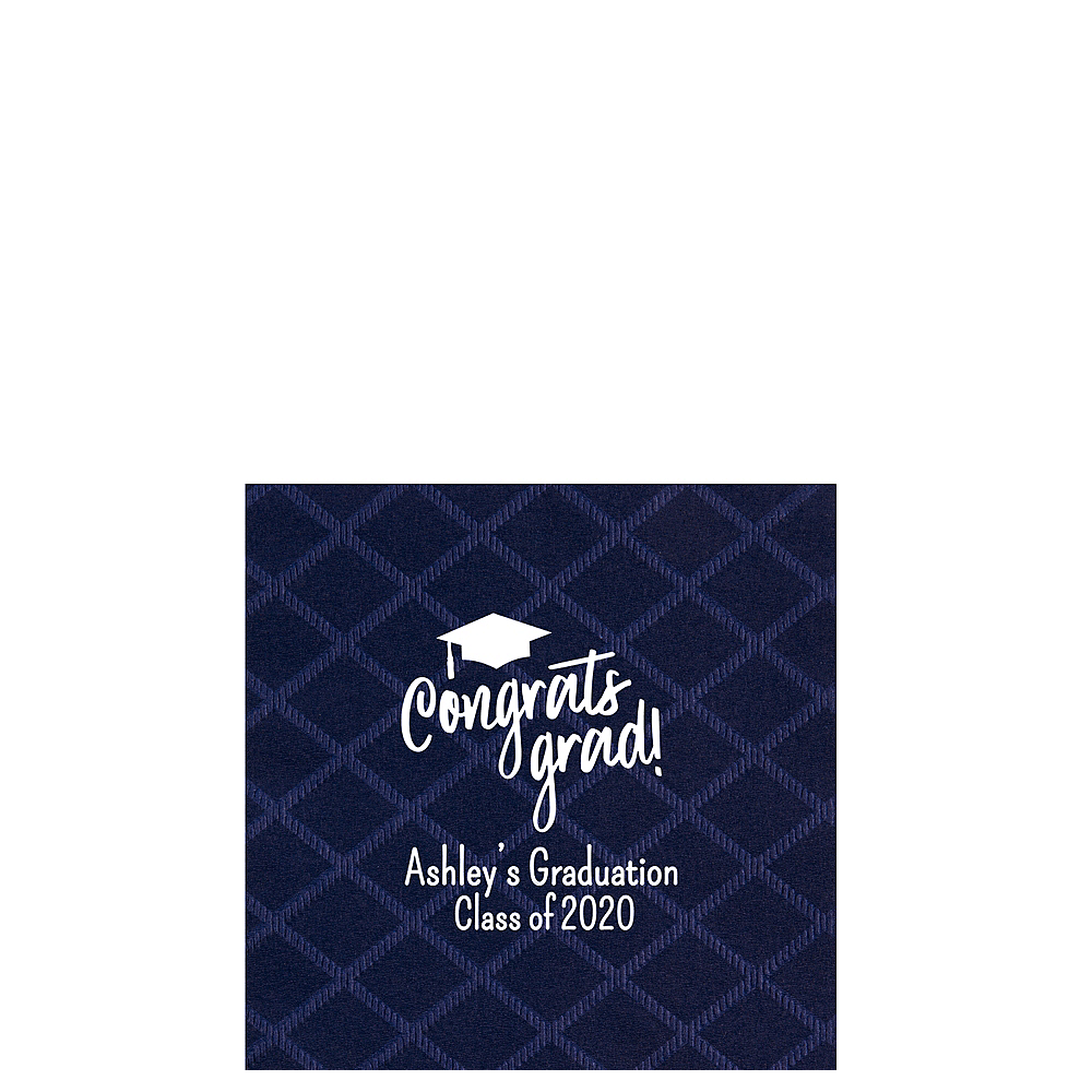 Personalized Graduation Diamonds Beverage Napkins Image #1