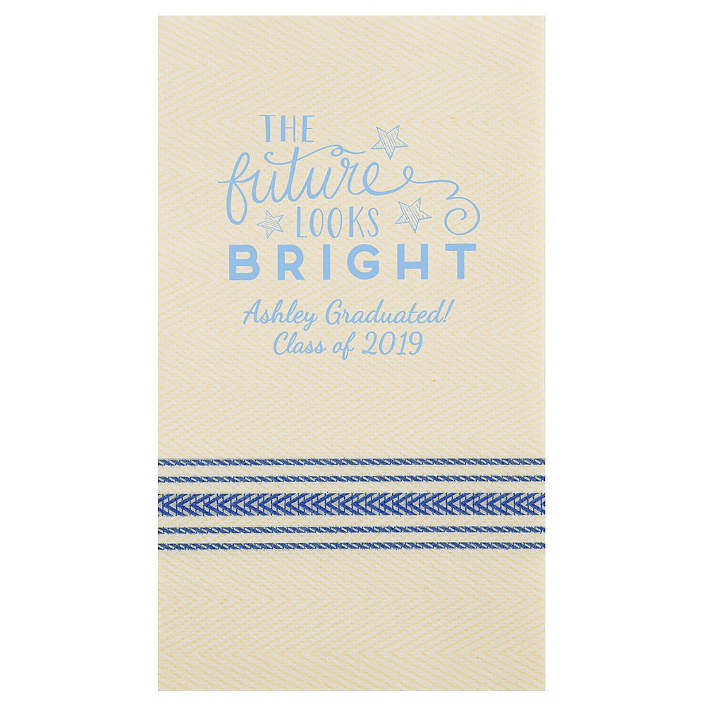 Personalized Graduation Herringbone Guest Towels  Image #1