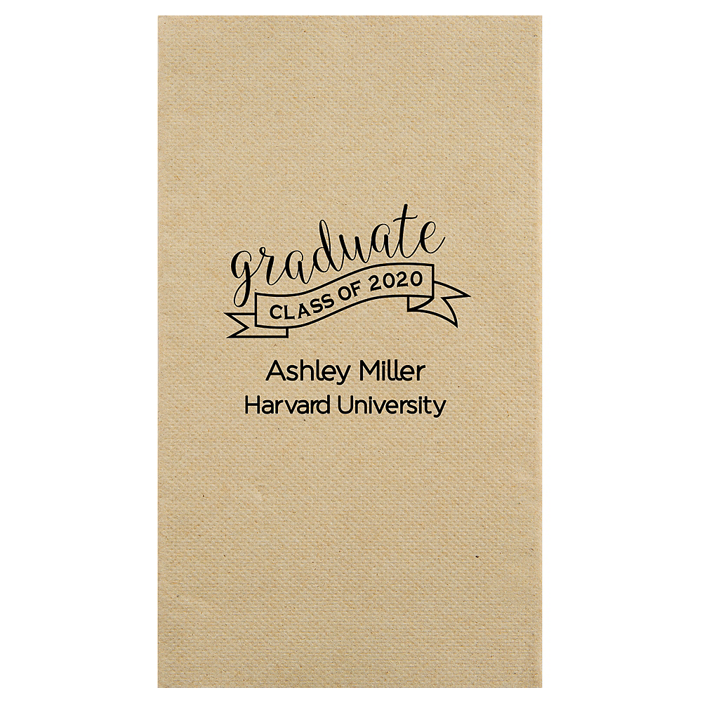 Personalized Graduation Eco-Friendly Guest Towels  Image #1