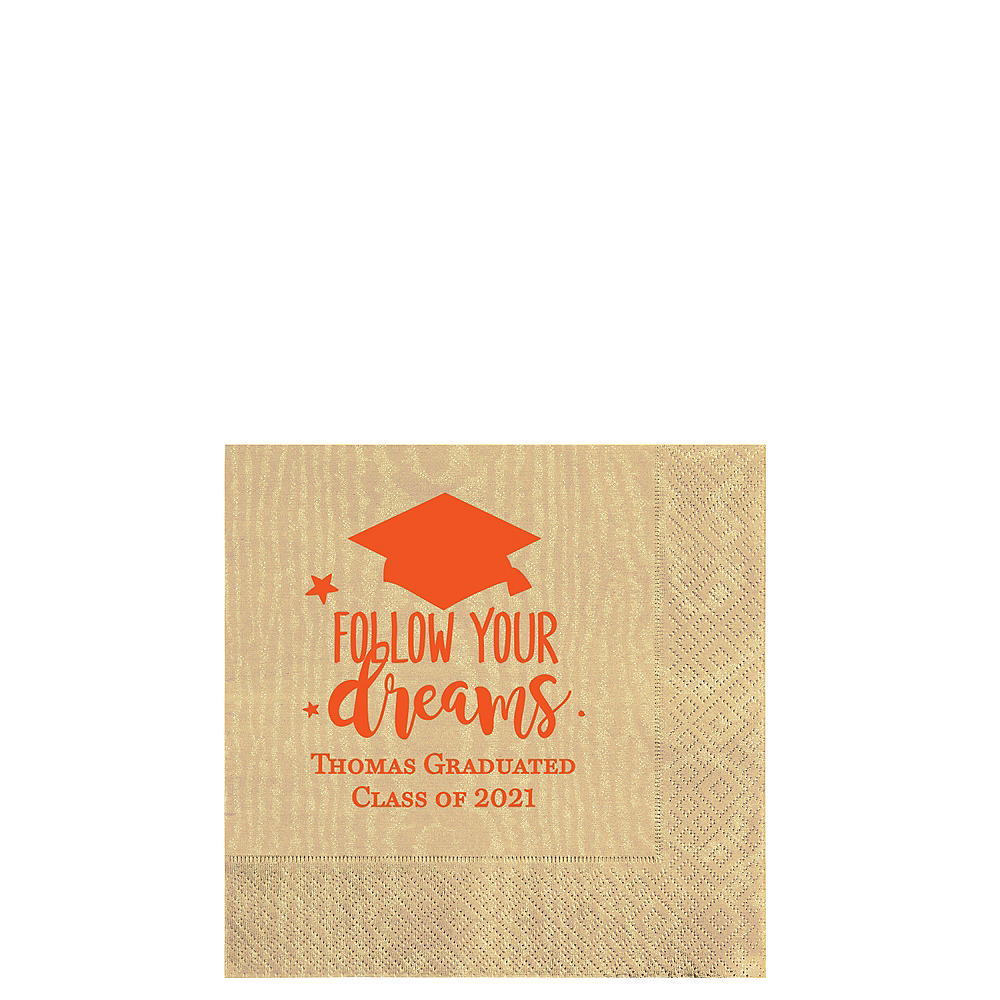 Personalized Graduation Moire Beverage Napkins  Image #1