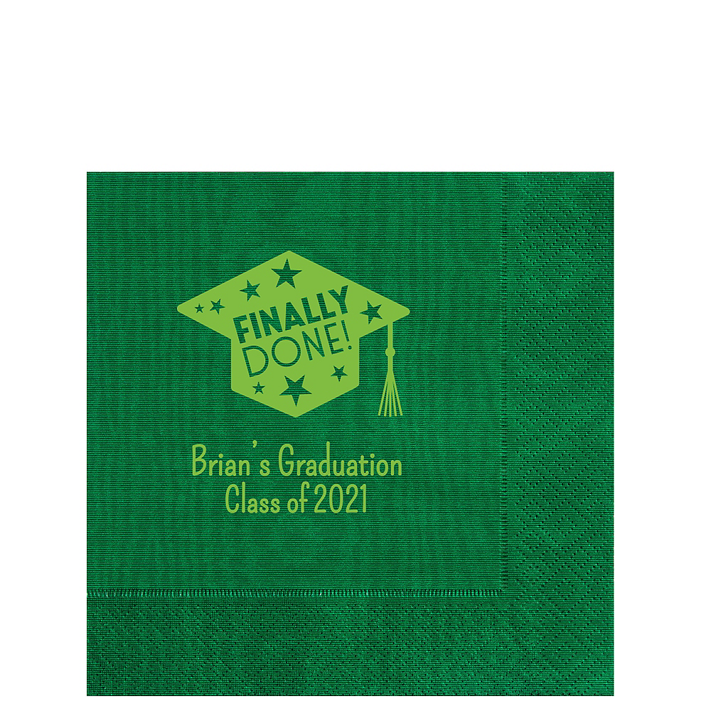 Personalized Graduation Moire Lunch Napkins    Image #1