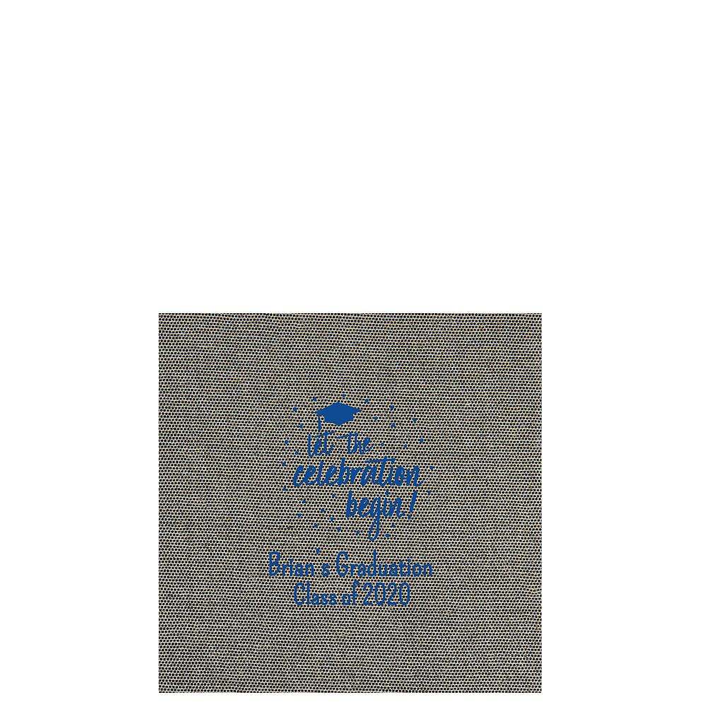 Personalized Graduation Tweed Print Beverage Napkins Image #1