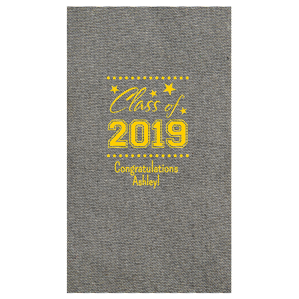 Personalized Graduation Tweed Print Guest Towels Image #1