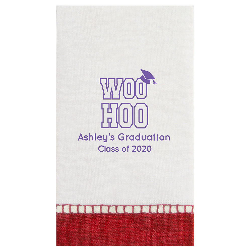 Personalized Graduation Bordered Guest Towels    Image #1