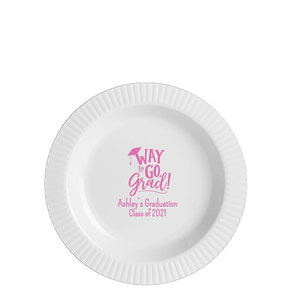 Nav Item for Personalized Graduation Premium Plastic Dessert Plates    Image #1