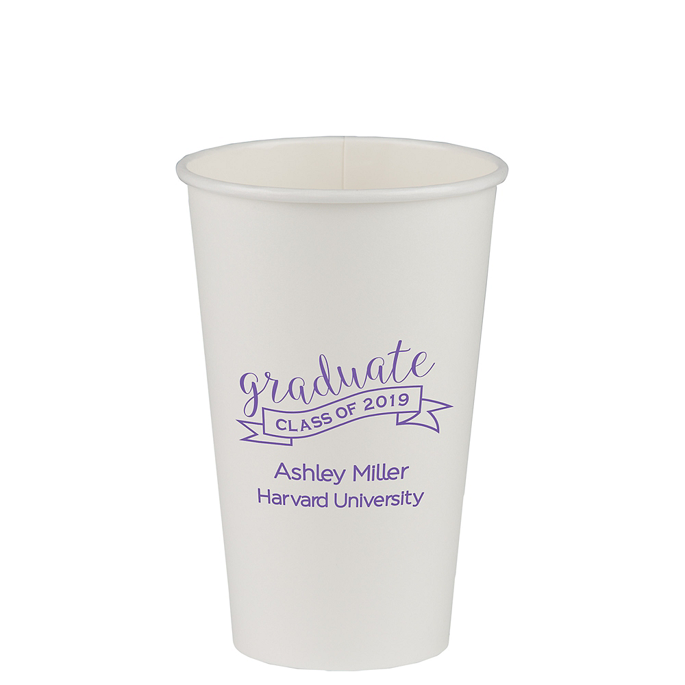 Personalized Graduation Insulated Paper Cups 16oz Image #1