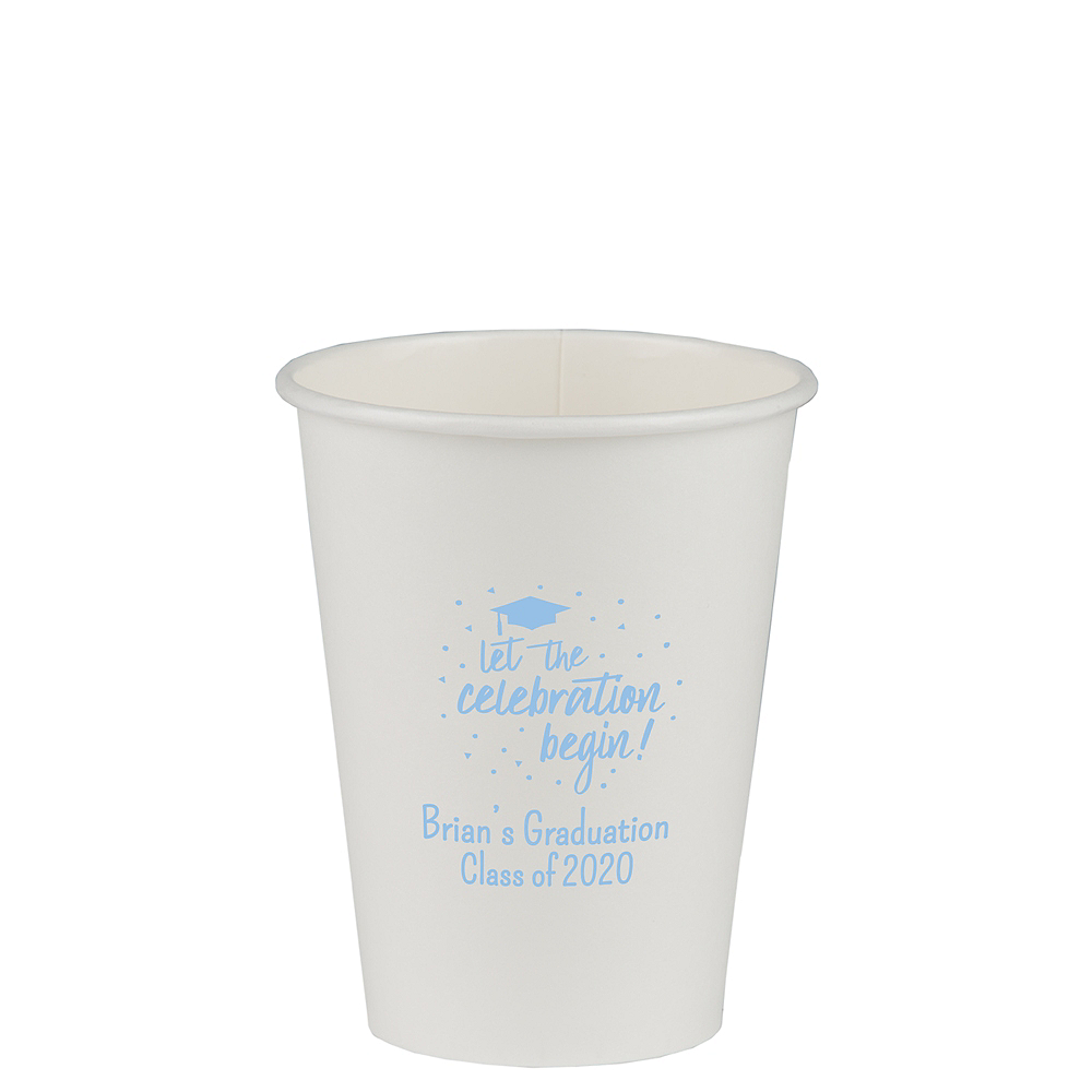 Nav Item for Personalized Graduation Paper Cups 12oz    Image #1
