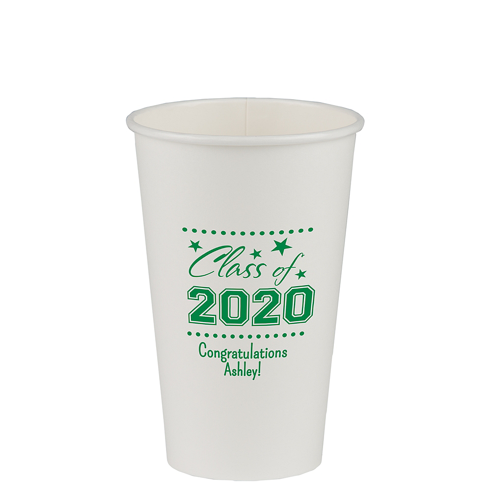 Personalized Graduation Paper Cups 16oz    Image #1
