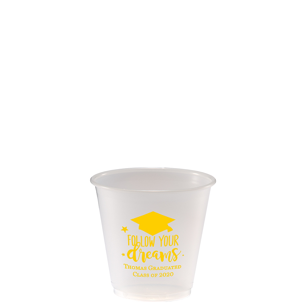 Nav Item for Personalized Graduation Plastic Party Cups 3.5oz    Image #1