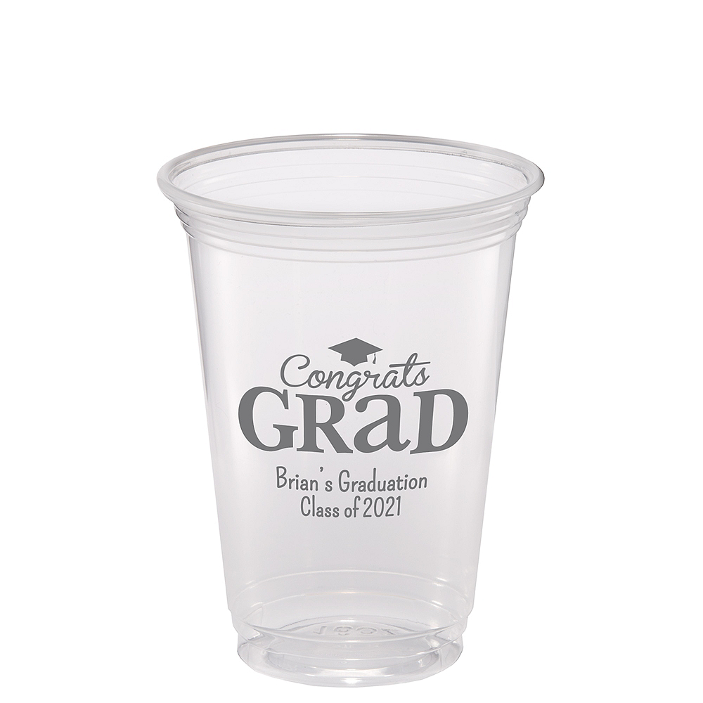 Nav Item for Personalized Graduation Plastic Party Cups 16oz Image #1