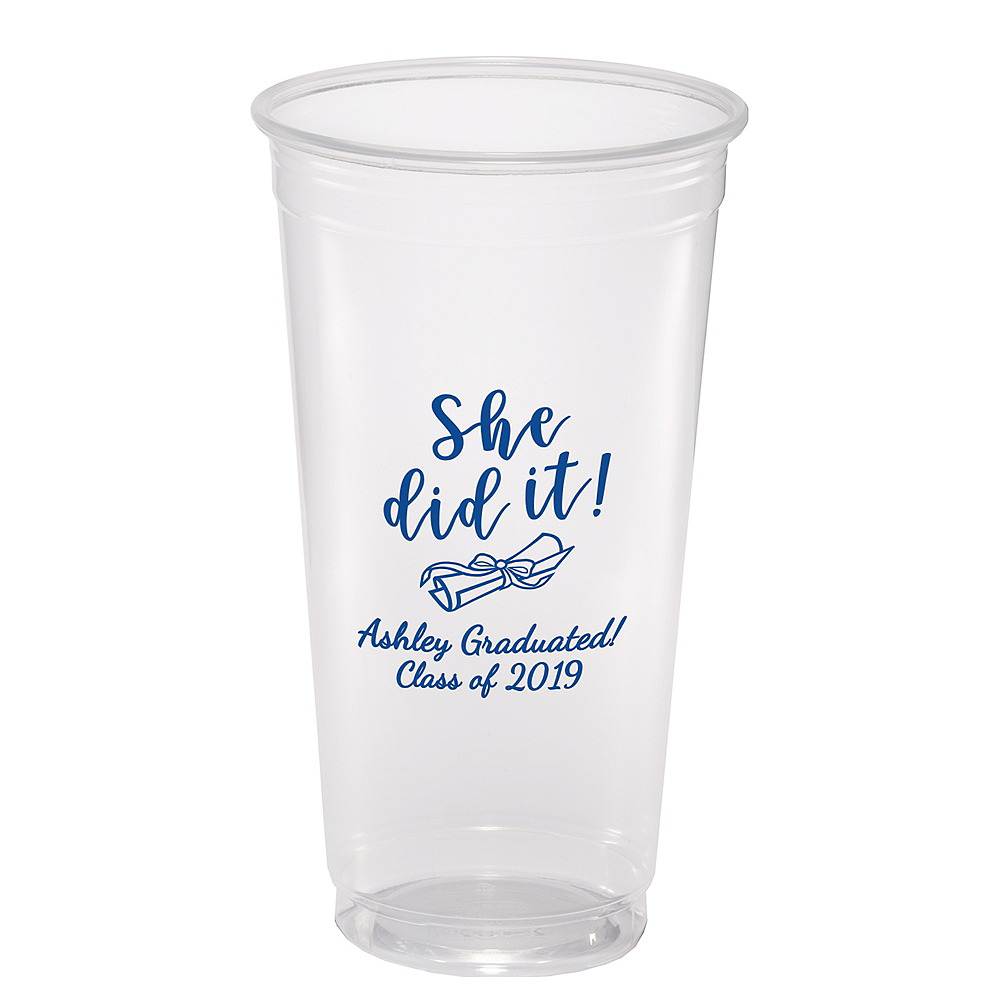Personalized Graduation Plastic Party Cups 24oz  Image #1