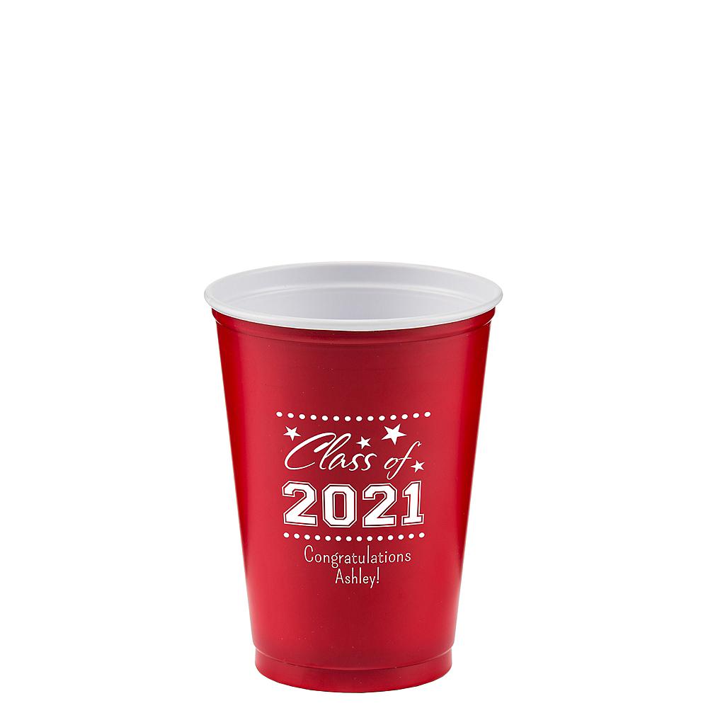 Personalized Graduation Solid Color Plastic Party Cups 10oz  Image #1