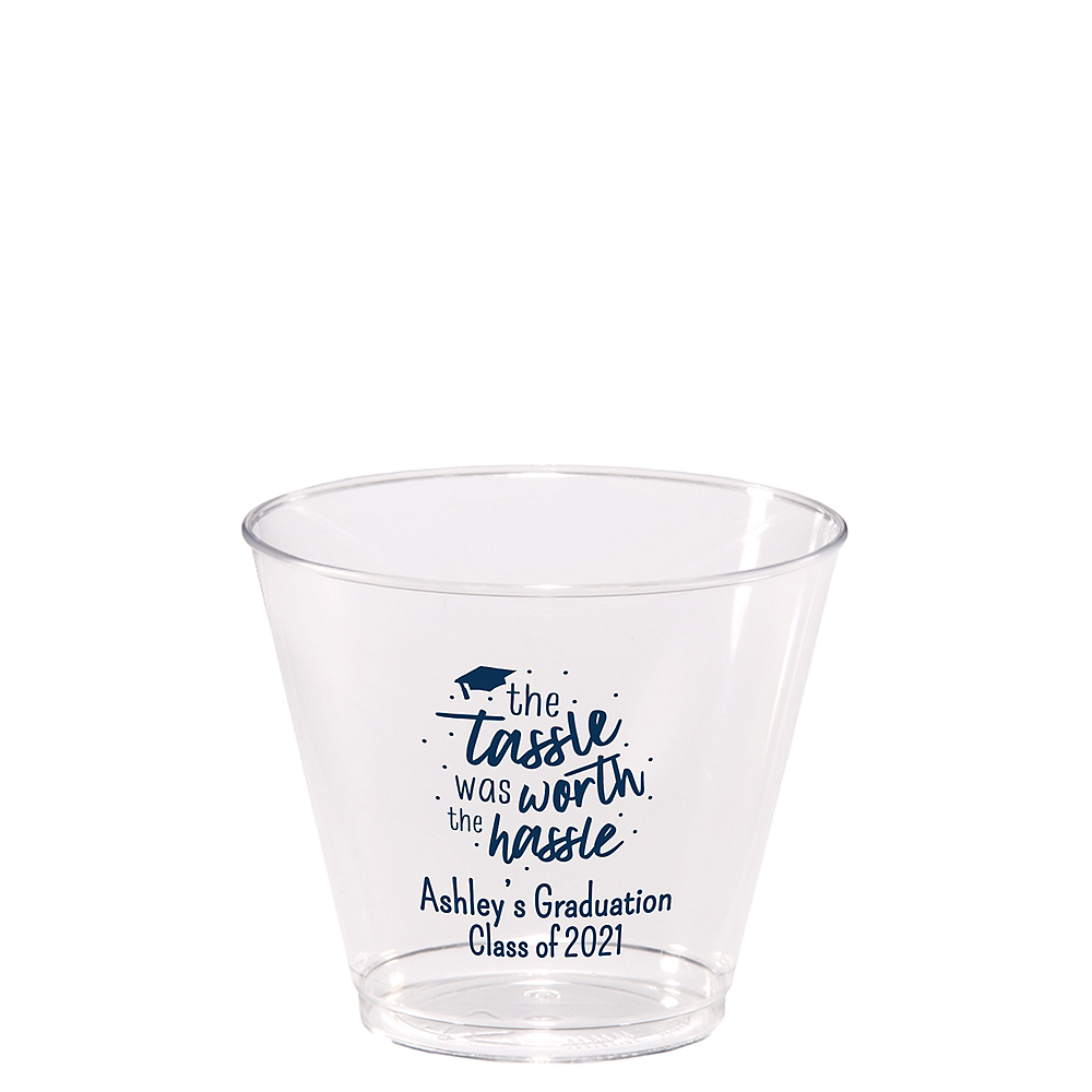 Personalized Graduation Hard Plastic Cups 9oz    Image #1