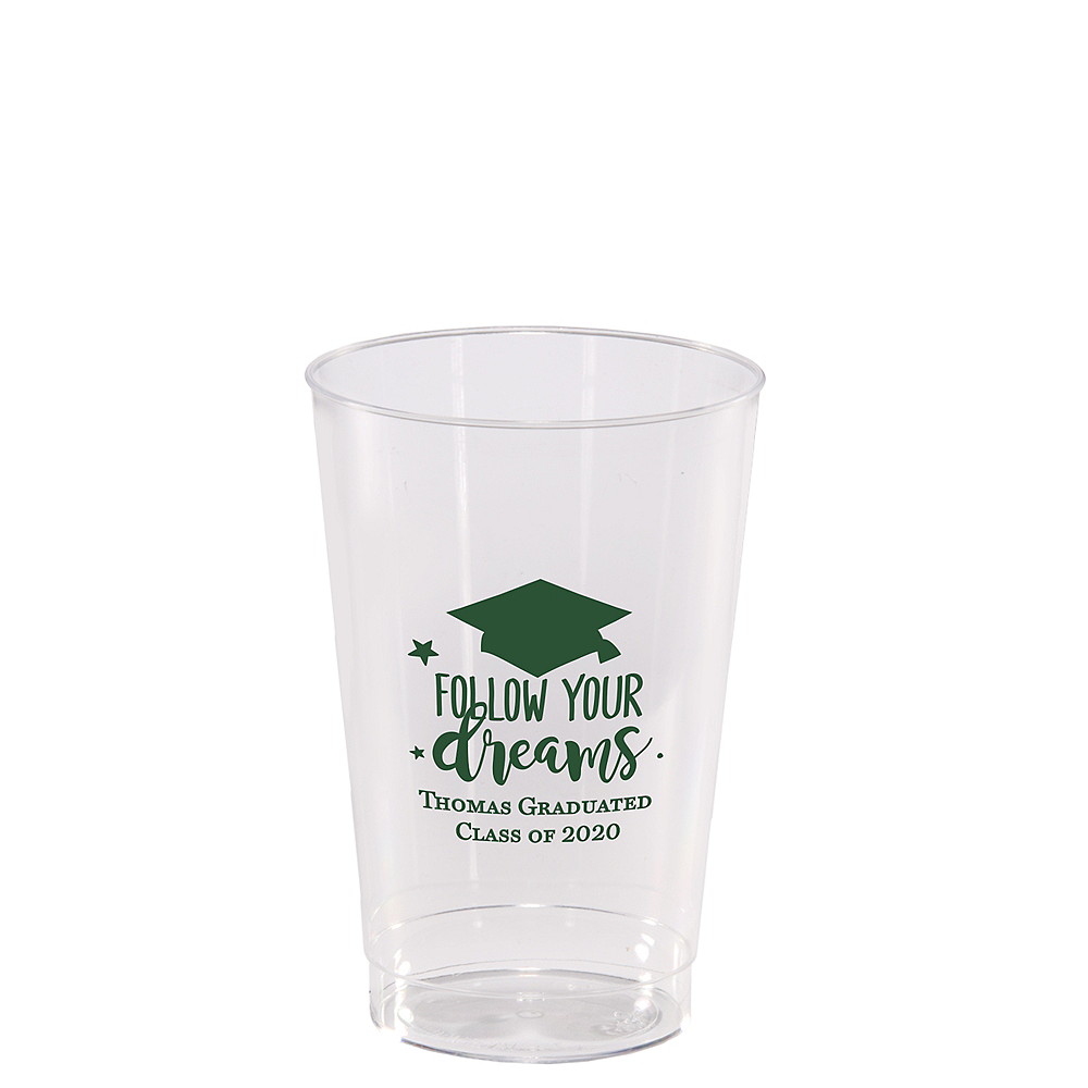 Personalized Graduation Hard Plastic Cups 12oz    Image #1