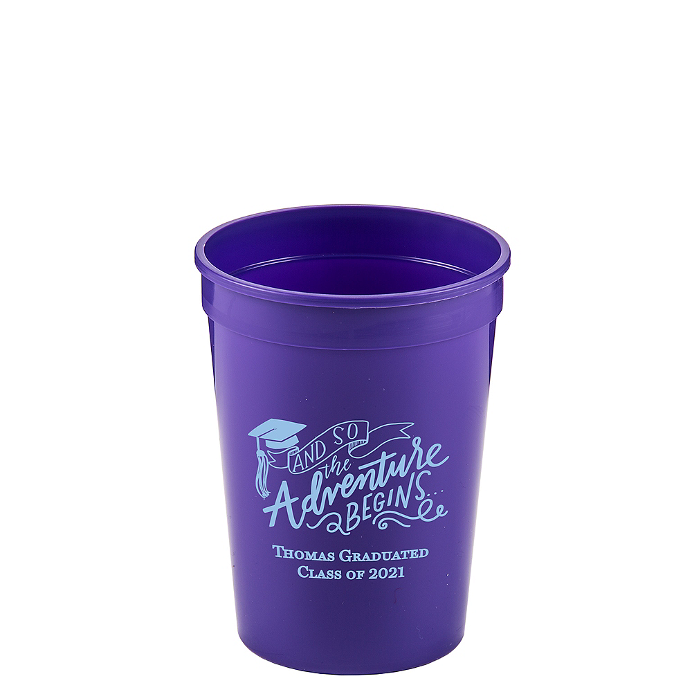 Personalized Graduation Plastic Stadium Cups 12oz    Image #1