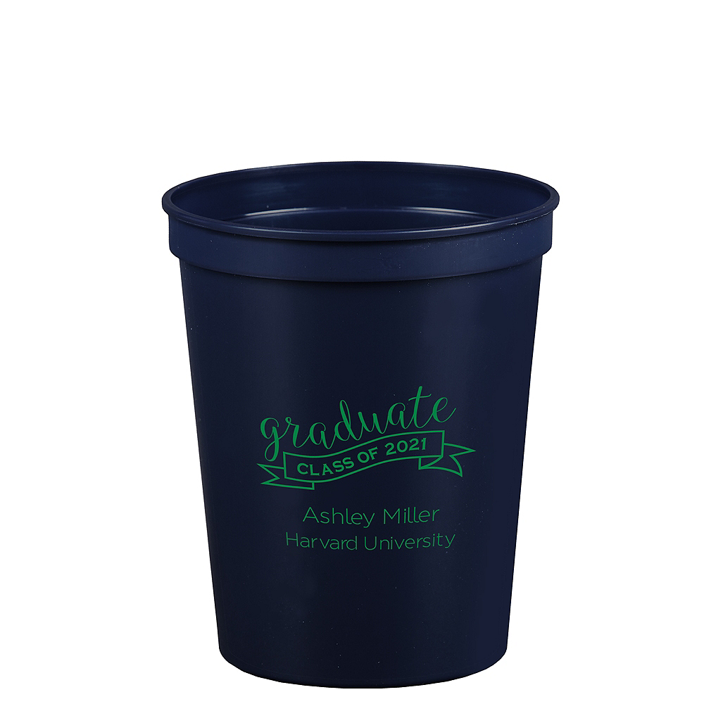 Personalized Graduation Plastic Stadium Cups 16oz    Image #1