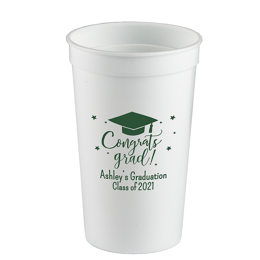 Personalized Graduation Plastic Stadium Cups 22oz    Image #1