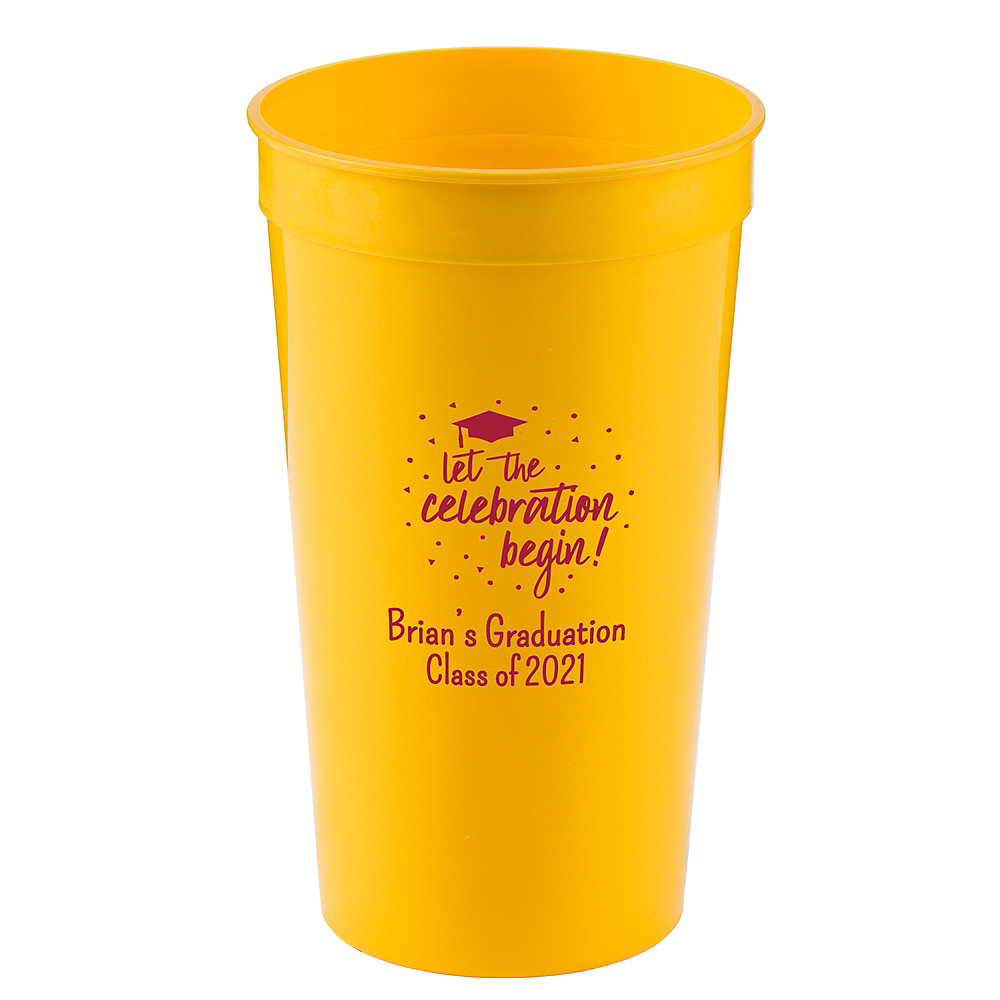 Personalized Graduation Plastic Stadium Cups 32oz    Image #1