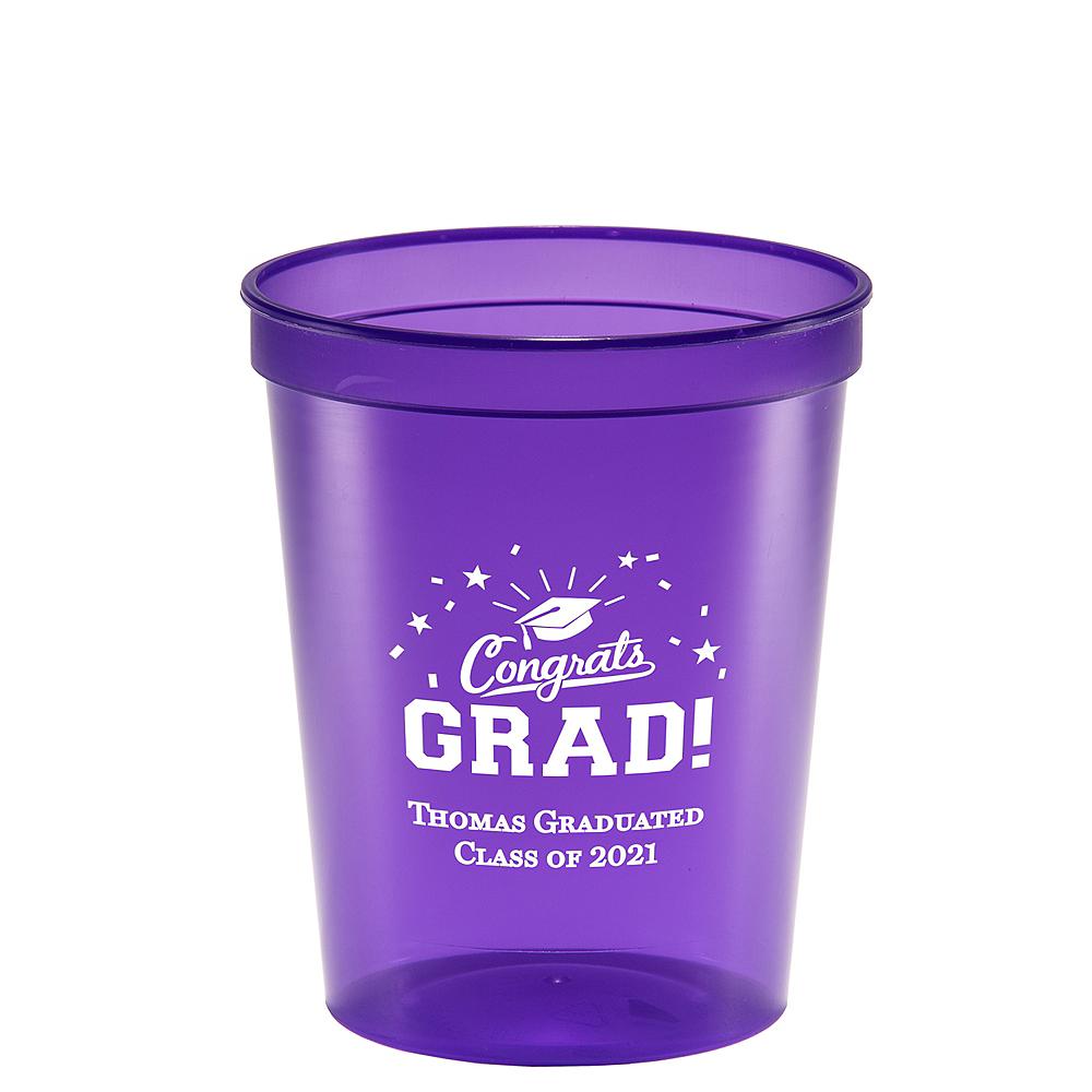 Personalized Graduation Translucent Plastic Stadium Cups 16oz  Image #1