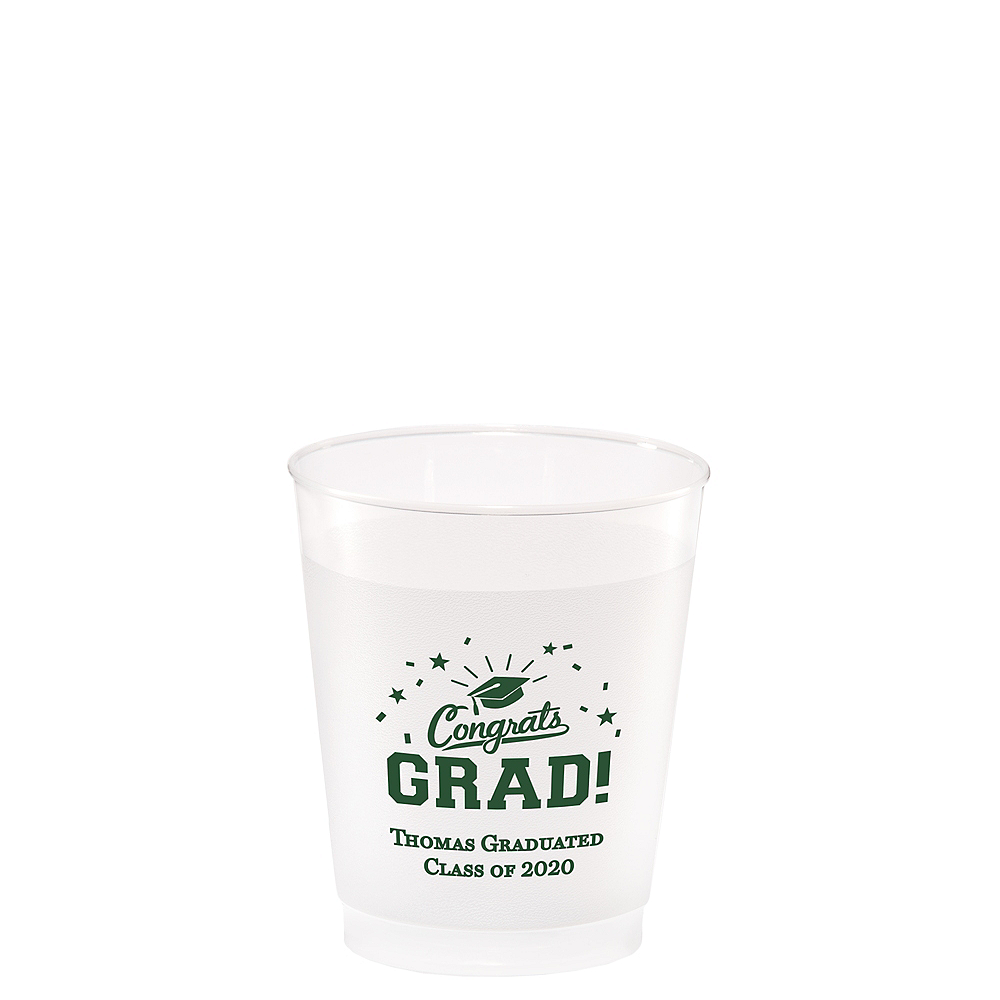 Personalized Graduation Frosted Plastic Shatterproof Cups 5oz  Image #1
