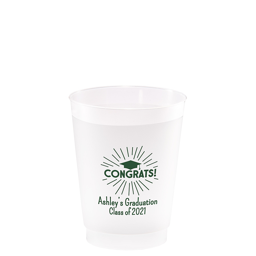 Personalized Graduation Frosted Plastic Shatterproof Cups 8oz  Image #1