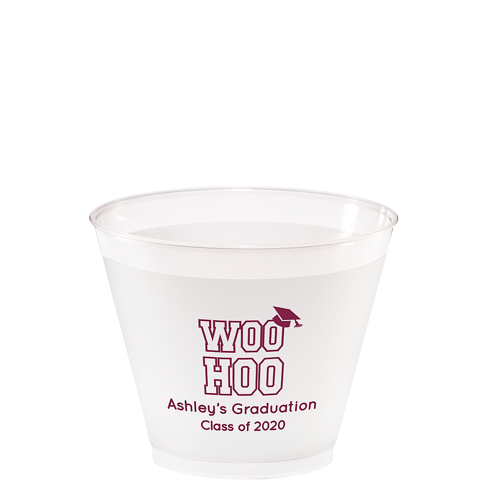 Personalized Graduation Frosted Plastic Shatterproof Cups 9oz  Image #1