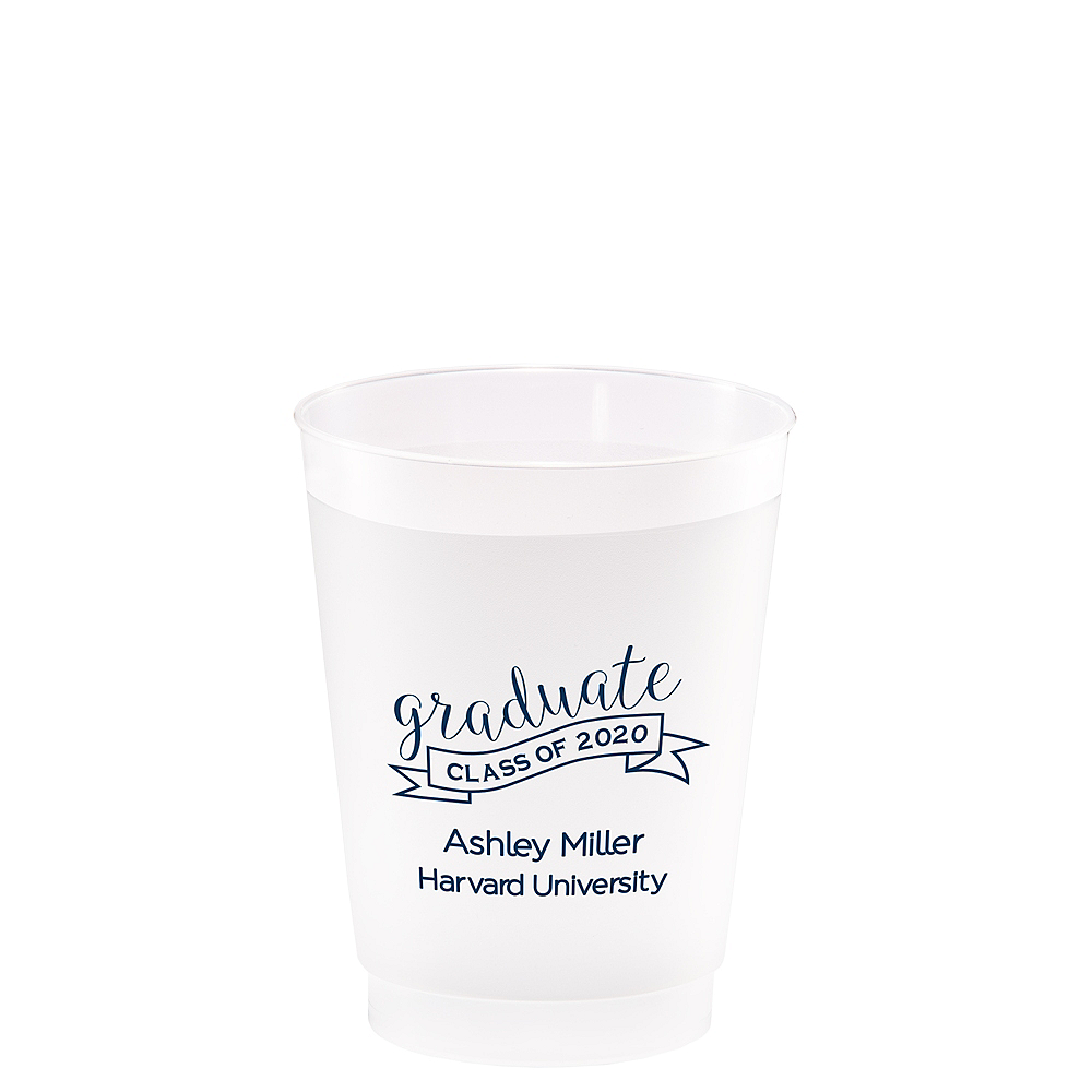 Personalized Graduation Frosted Plastic Shatterproof Cups 10oz  Image #1