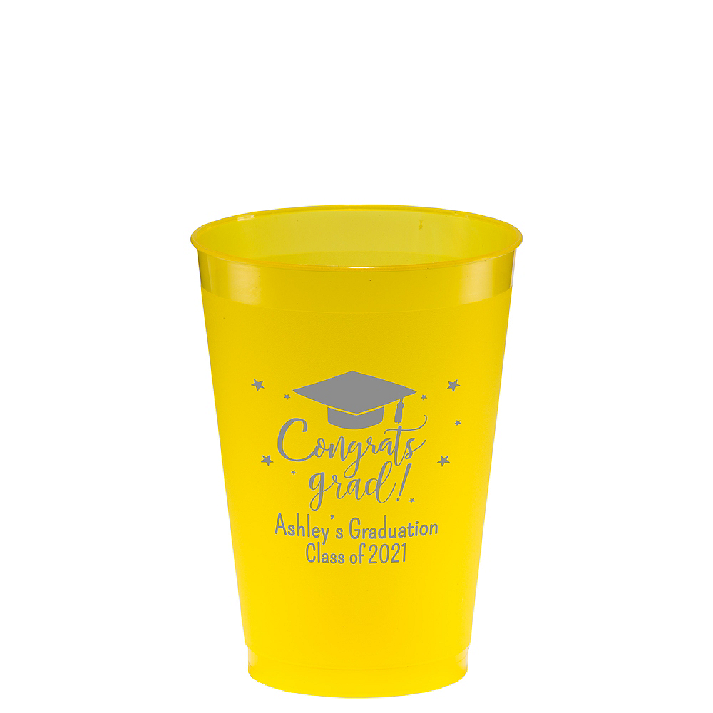 Personalized Graduation Frosted Plastic Shatterproof Cups 12oz  Image #1