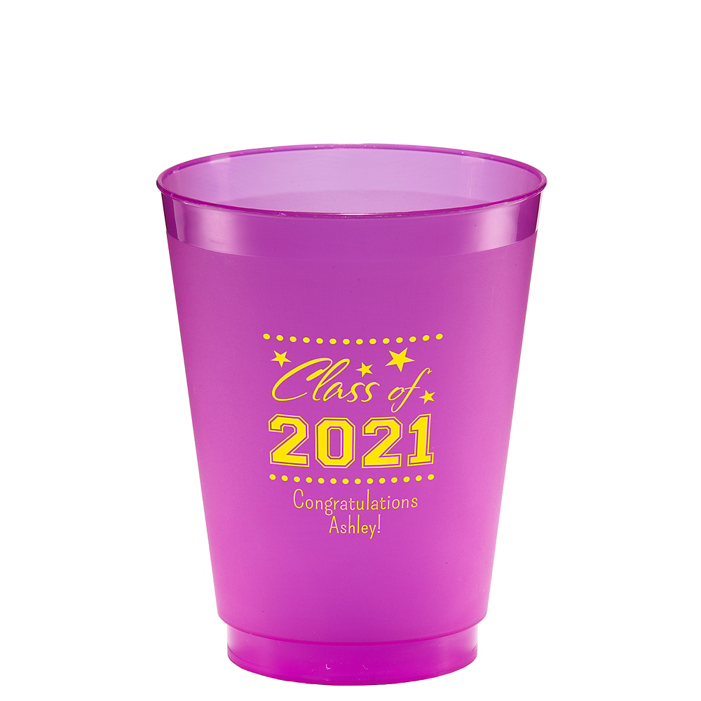 Personalized Graduation Frosted Plastic Shatterproof Cups 16oz  Image #1