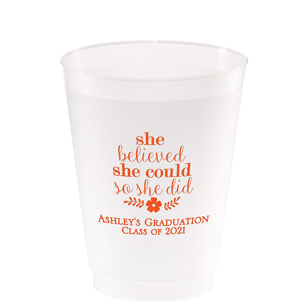 Personalized Graduation Frosted Plastic Shatterproof Cups 20oz    Image #1