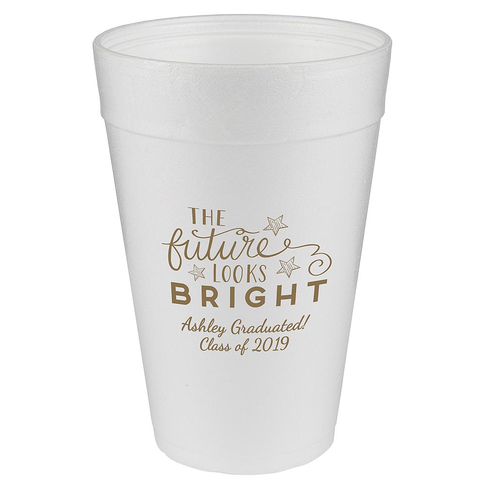 Personalized Graduation Foam Cups 32oz  Image #1