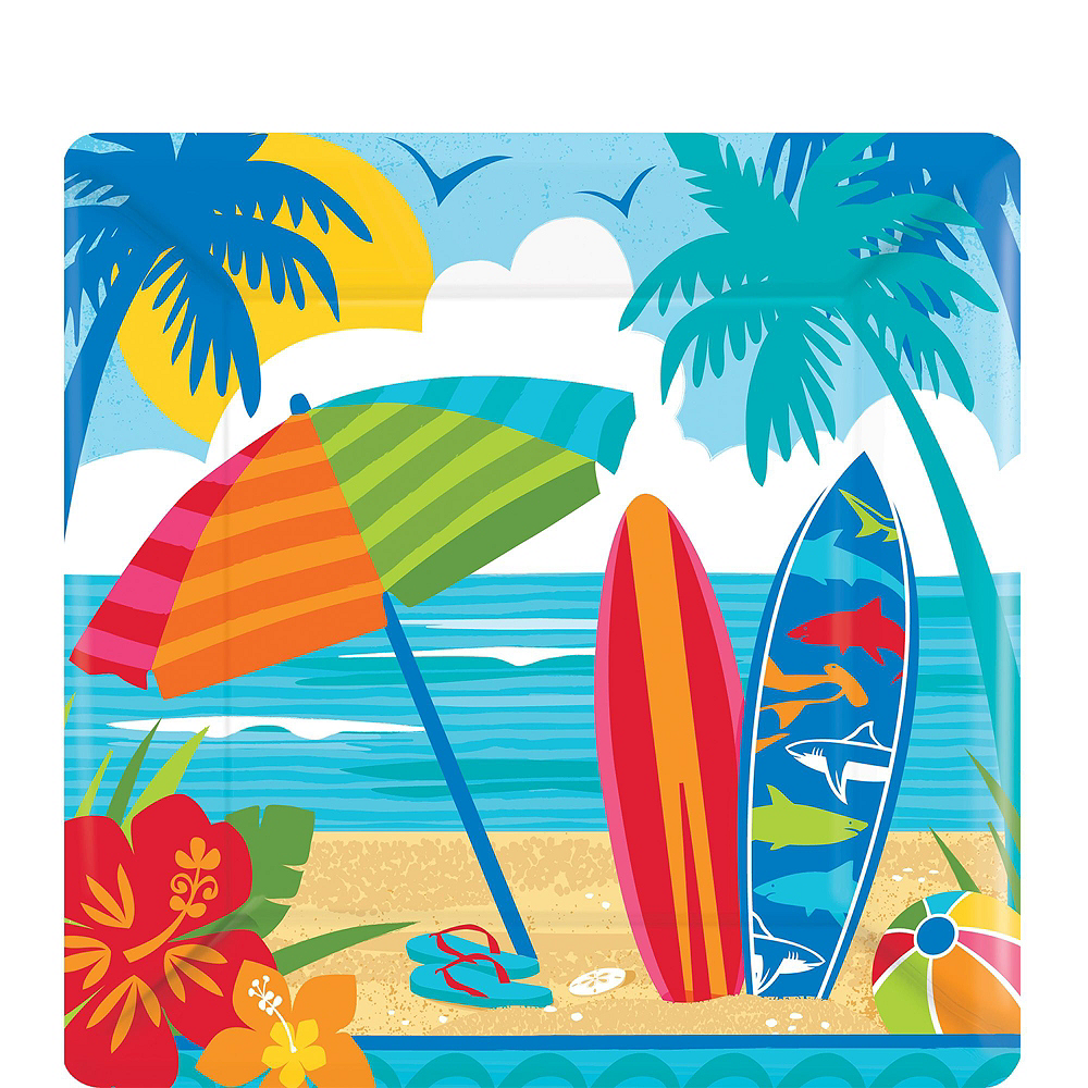 Sun & Surf Beach Basic Party Kit for 18 Guests Image #2