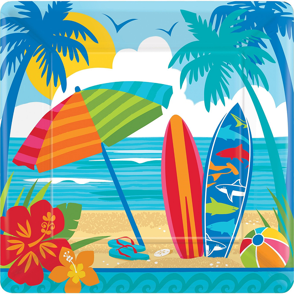 Sun & Surf Beach Basic Party Kit for 18 Guests Image #3