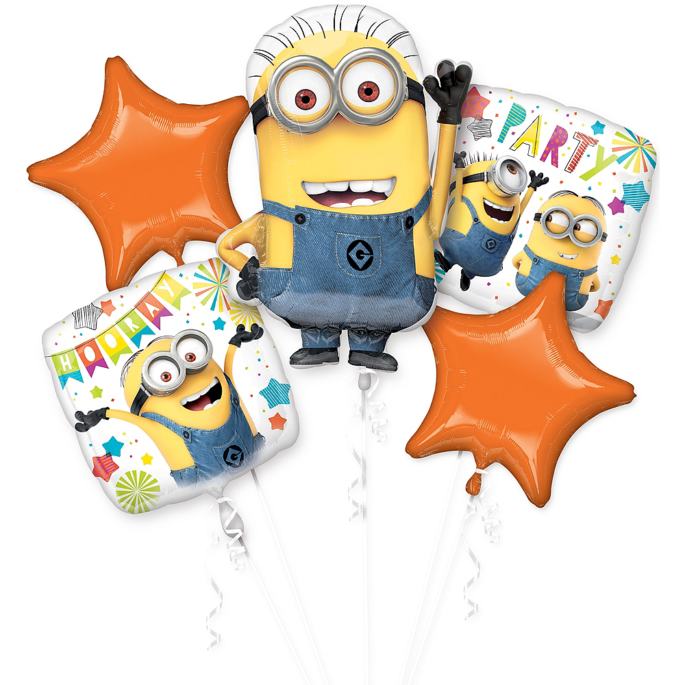 Nav Item for Despicable Me Minions Balloon Bouquet 5pc  Image #1