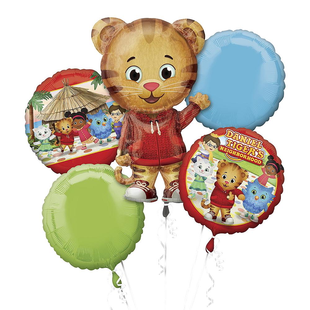 Giant Daniel Tiger Balloon Bouquet 5pc | Party City