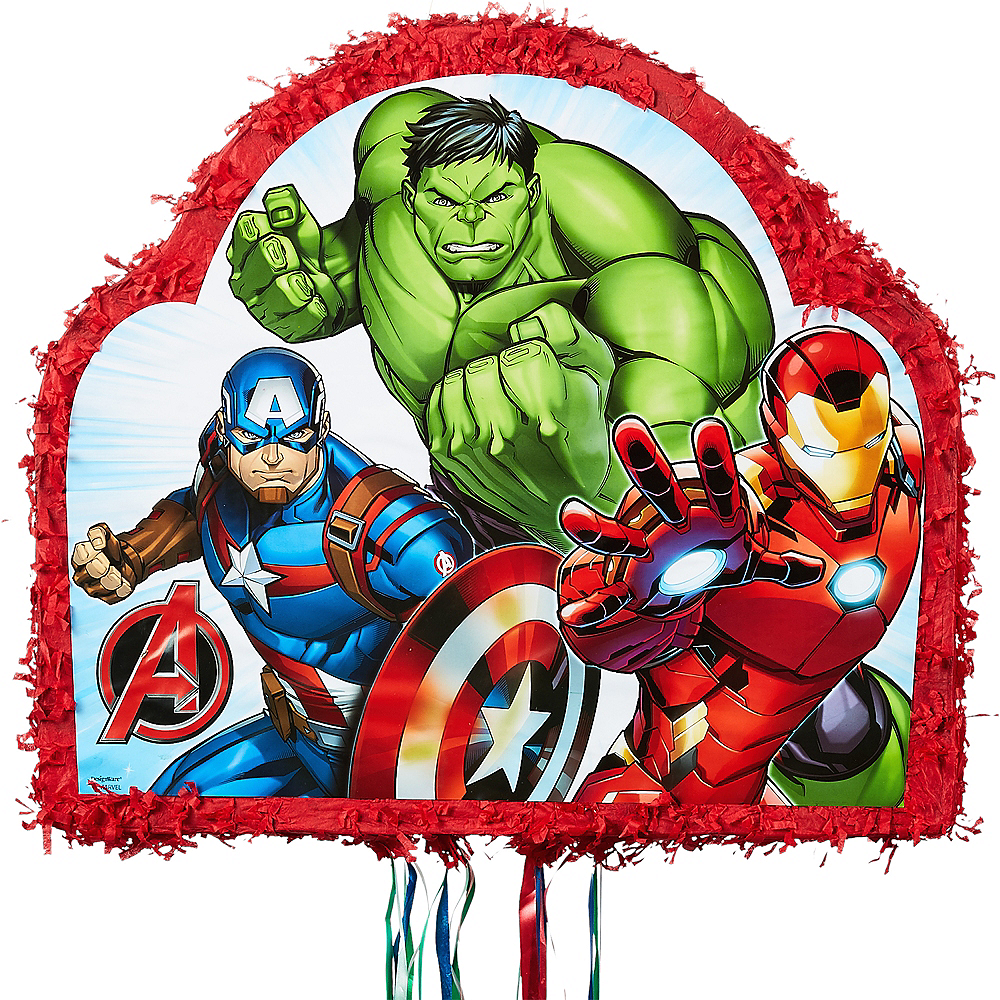 Ultimate Party Supplies And Rental Store In City Of Nashville: Pull String Avengers Pinata 19in X 17in