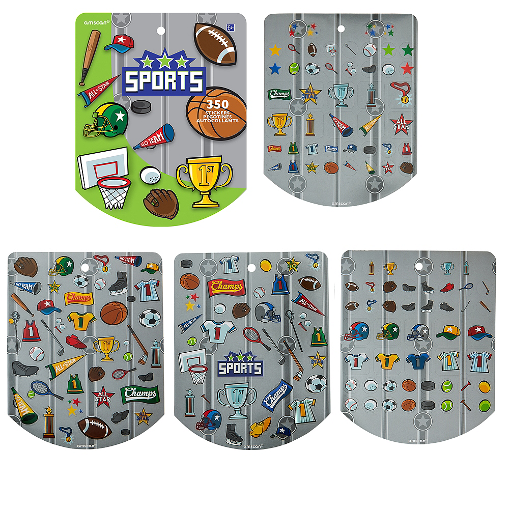 Jumbo Sports Sticker Book 8 Sheets Image #1
