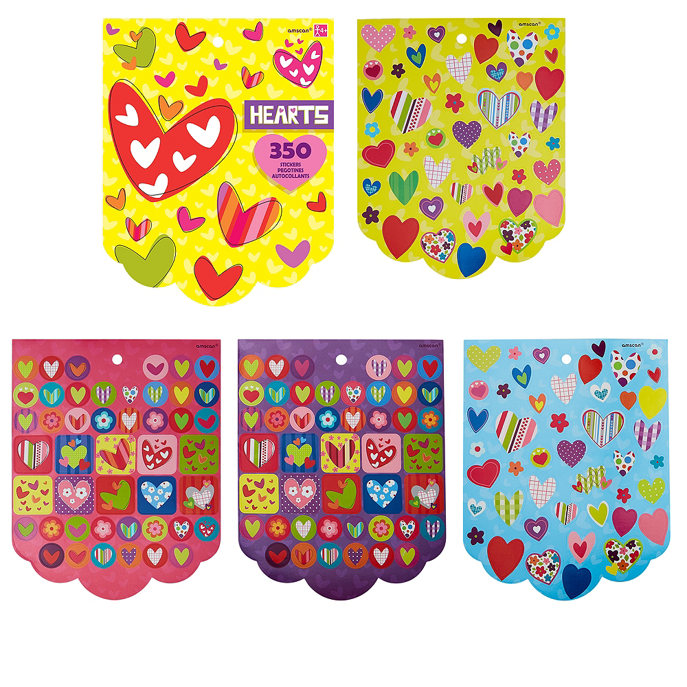 Jumbo Hearts Sticker Book 8 Sheets Image #1