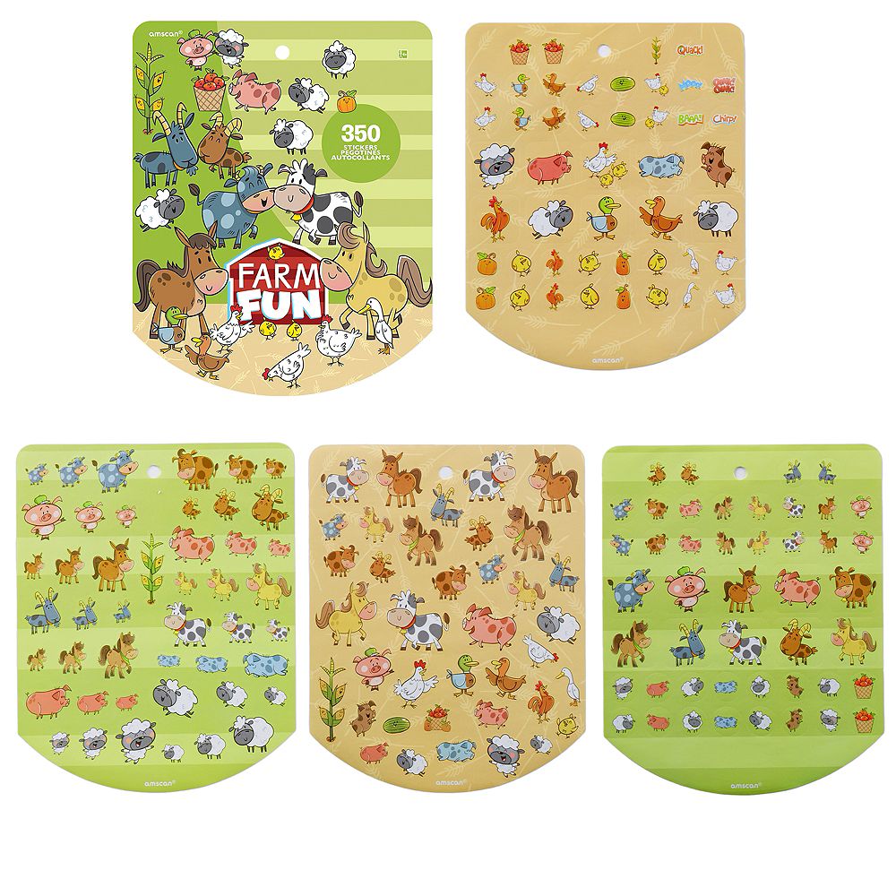 Jumbo Farm Animal Sticker Book 8 Sheets Image #1