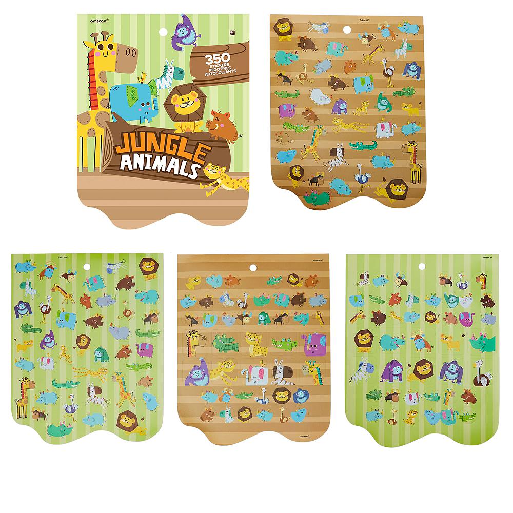 Jumbo Jungle Animal Sticker Book 8 Sheets Image #1