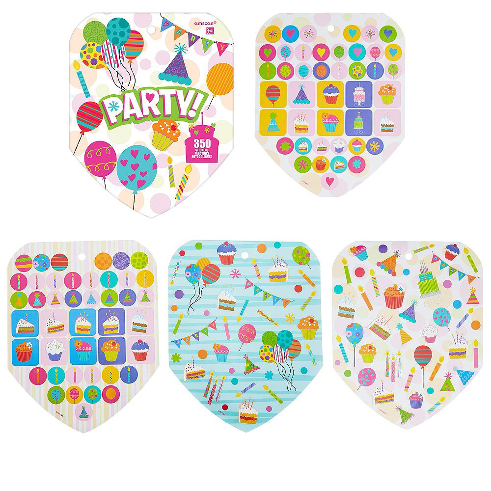 Jumbo Party Sticker Book 8 Sheets Image #1