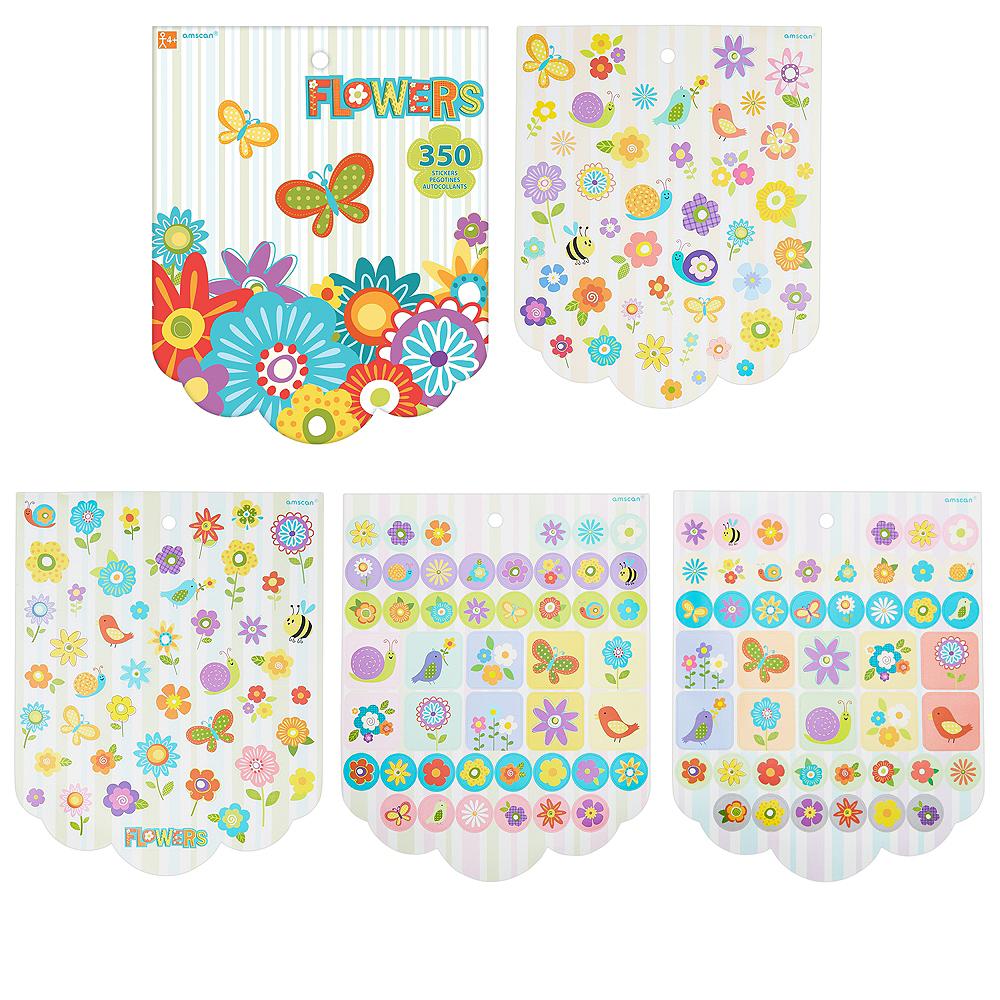 Jumbo Flowers Sticker Book 8 Sheets Image #1