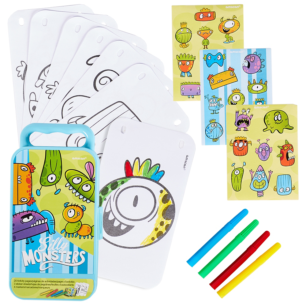 Silly Monsters Sticker Activity Box Image #1